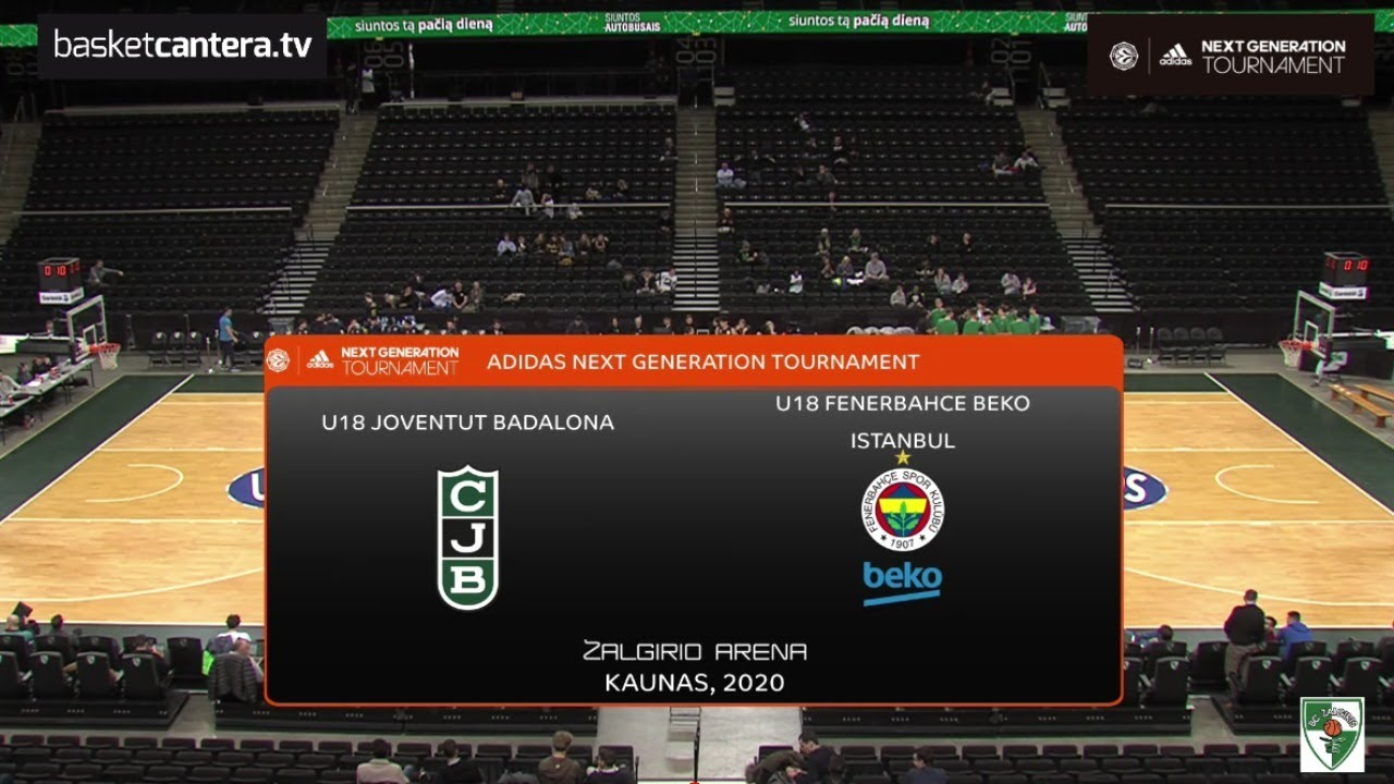 U18M  -JOVENTUT vs FENERBAHCE.- Euroleague ANGT Kaunas 2020 (BasketCantera.TV)