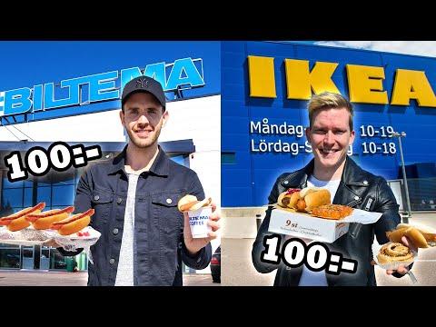 Var får man mest mat för 100 kr? IKEA eller BILTEMA?