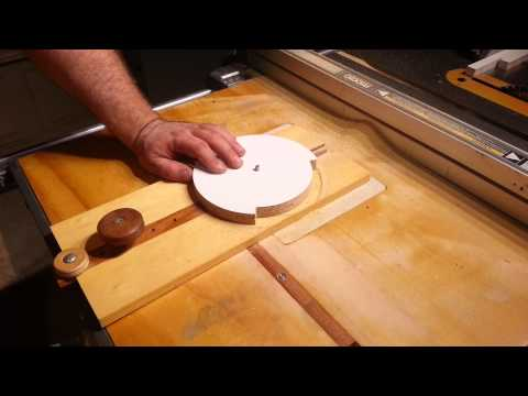 woodworking cutting perfect circles action video woodworking make an