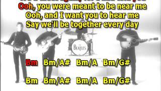 Got to get to into my life Beatles best karaoke instrumental lyrics chords