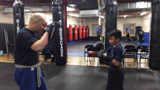 How to Hold Focus Mitts for Kids 9 Year Old Jeremy Working Pads
