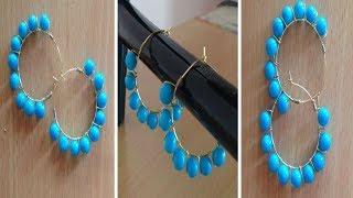 DIY Earrings II DIY Wire Wrapped Hoop Earring II Handmade Contemporary Earrings