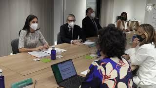 S.M. la Reina preside la reunión de trabajo de la Asociación Española contra el Cáncer (AECC)
