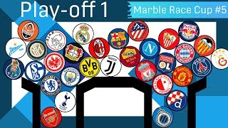 Clubballs 64 Best Clubs Marble Race | UEFA Clubballs Championship #5 | Play-off