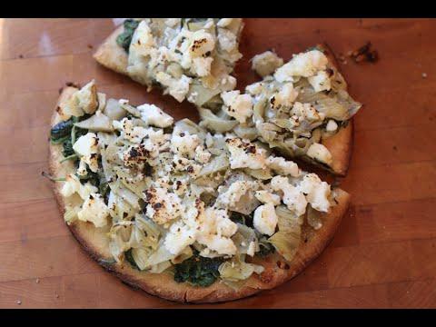 Artichoke & Feta Pizza recipe by SAM THE COOKING GUY