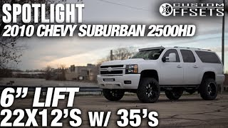 Spotlight - 2010 Chevy Suburban 2500, 6 Lift, 22x12 -44s, And 35s