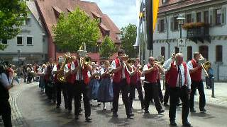 preview picture of video 'Feuerwehr u. Schützenfest Langenau'