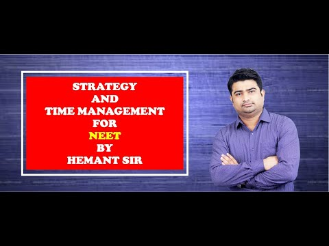 Strategy and time management for NEET