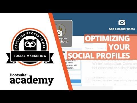 How to Optimize Social Media Profiles - YouTube