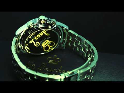 St. Leonhard Herren-Armbanduhr mit Funk und Solar