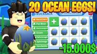 Wir ÖFFNEN 20 OCEAN EGGS und haben die ERSTEN NEON Pets! | Roblox/Deutsch