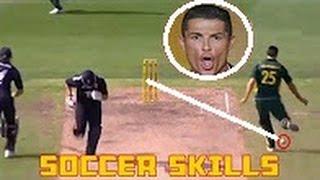 Top 10 Best Cricketers Soccer Skills in Cricket Magic Skills HD