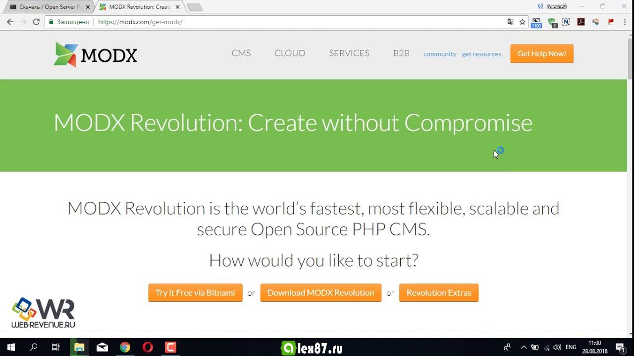 Установка MODX на openserver