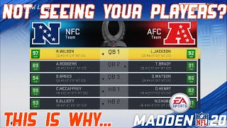 Why Your Players Aren't Showing Up On The Pro Bowl Roster In Madden 20 (And How To Play The ProBowl)