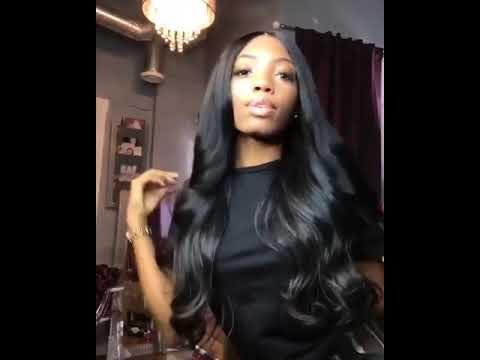 Body wave human hair wig T-part Small gap lace headgear hand-woven headgear