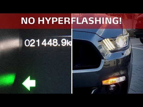 How to disable Turn Signal Hyperflashing (without resistor) in an S550 Ford Mustang