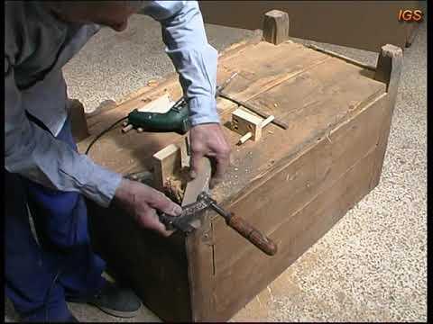 Como restaurar un arcón muy viejo 1ª parte