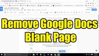 Delete Last Blank Page in Google Docs - Solve this Blank page Bug Yourself