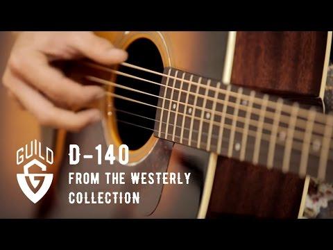 Guild D-140 Acoustic Guitar Natural with Case
