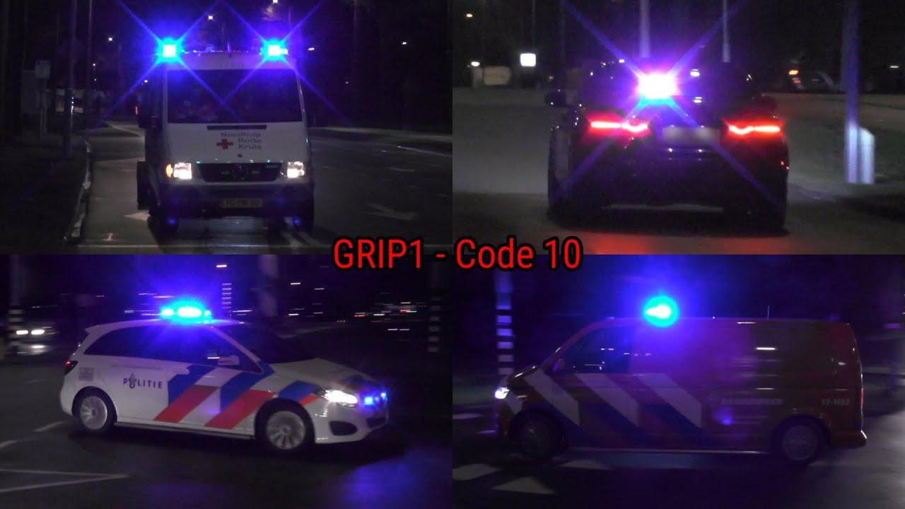 [Politie Jaguar!] Hulpdiensten massaal onderweg naar brand in Rotterdam! #1260