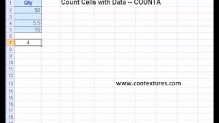 How to use Excel Count Functions for Numbers, Data, Blanks
