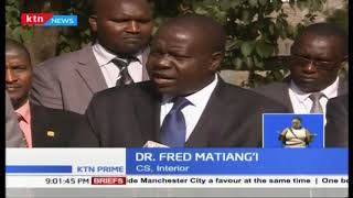 Dr. Fred Matiang'I apologises to Kenya over 'rote at NTSA'