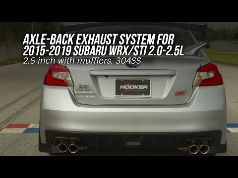Axle Back Exhaust For 15-19 Subaru WRX STI with mufflers