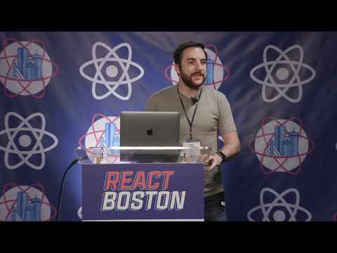 Kiley speaking at React Boston 2019