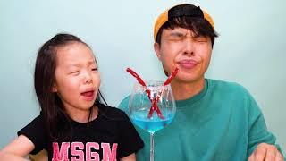 Balloon Cotton Candy  Mukbang  풍선 솜사탕  떡볶이 먹방