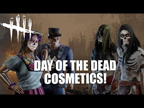 DAY OF THE DEAD COSMETICS! | Dead By Daylight THE LEGION GAMEPLAY