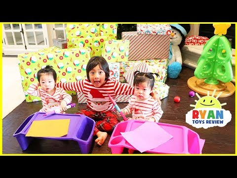 Christmas Morning 2017 Opening Presents with Ryan ToysReview