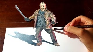 JASON VOORHEES: Amazing Anamorphic Drawing Illusion