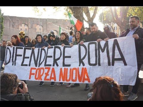 La manifestazione di Forza Nuova a San Lorenzo