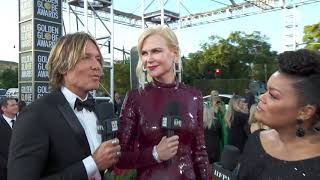 Nicole Kidman and Keith Urban Red Carpet Interview -Golden Globes 2019