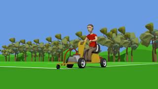 Мультфильмы про машинки. Вася Пьяточкин мастер на все руки, строит футбольную площадку.