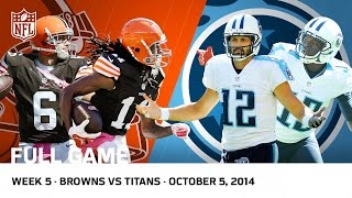 Browns Complete Largest Road Comeback in NFL History vs. Titans (Week 5, 2014) | NFL Full Game