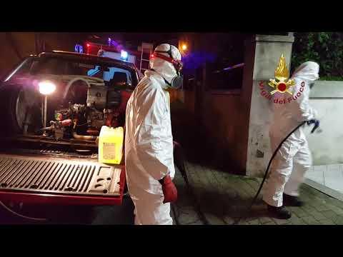 Preview video Cuglieri: intervento dei Vigili del Fuoco per la sanificazione delle aree pubbliche