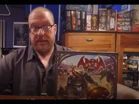 The Board Game Kaptain's review and tutorial for Arena: For the Gods!