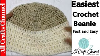 Easiest Crochet Beanie -  Fast And Easy,  Beginner Level