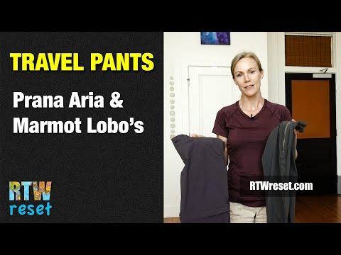 Prana Aria and Marmot Lobo's Convertible Travel Pants Review
