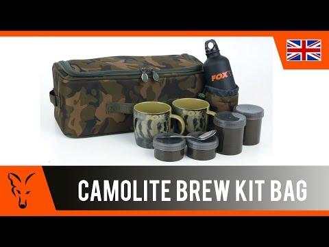 Fox Camolite Brew Kit Bag Standard Teáskészlet Terepszínű Táskával videó