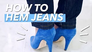 How To Hem Jeans (Shortening The Leg) | WITHWENDY