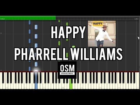 Happy – Pharrell Williams – Piano Sheets + Midi   Open ...