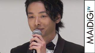 中村倫也、エキセントリックな役に「ダメだったら監督のせい」映画「孤狼の血」完成披露試写会2