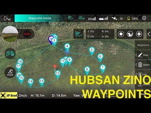 Hubsan Zino Waypoints - Courtesy of Banggood