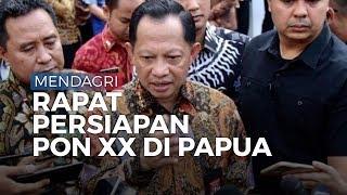 Menteri Dalam Negeri Tito Karnavian Masuk Ruang Rapat Persiapan PON XX di Papua