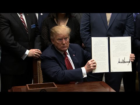 President Donald Trump signed an executive order aimed at stemming the high number of veteran suicides, urging expanded outreach to the high-risk group by awarding grants to community programs and creating a Cabinet-level task force. (March 5)