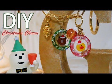 水晶滴膠教學! 簍空耶誕花圈卡通人物滴膠吊飾