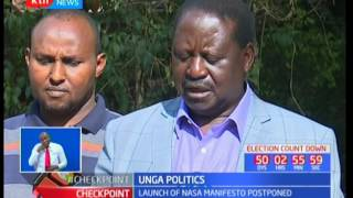Unga Politics: Launch of NASA manifesto postponed