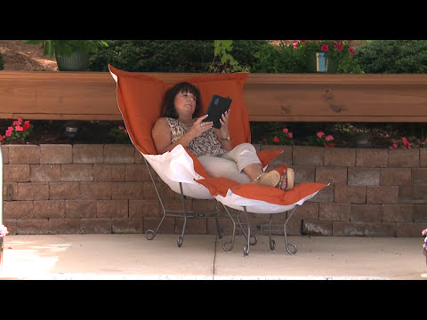 Video for Avanti Pecan Puff Chair with Titanium Frame